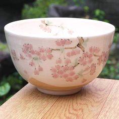 【京焼清水焼】抹茶碗桜陶仙