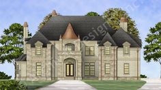 Di Medici Place House Plan Front Rendering