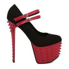 Party Suede Belts and Studs Design Women's Spring Pumps