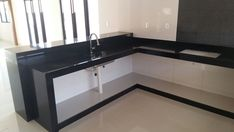 Kitchen Room Design, Laundry Room Design, Kitchen Decor, Kitchen Cabinet Shelves, Kitchen Cabinet Remodel, House Outer Design, House Design, Small Modern Kitchens, Concrete Kitchen
