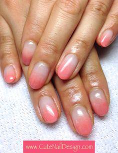 Simple Gradation Nails - www.CuteNailDesign.com Japanese Nail Design, Japanese Nails, Cute Nail Designs, Cute Nails, Nail Art, Simple, Pretty Nails, Nail Arts