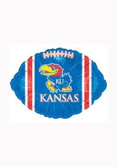 Kansas (KU) Jayhawks Football Balloon http://www.rallyhouse.com/shop/kansas-jayhawks-kansas-jayhawks-football-balloon-1963007 $2.95