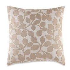 MYOP Lachute Square Throw Pillow Cover in Taupe - BedBathandBeyond.com