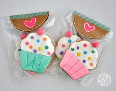Cupcake,donut, ice cream cone cookies for girls to decorate Fancy Cookies, Valentine Cookies, Iced Cookies, Biscuit Cookies, Cute Cookies, Birthday Cookies, Sugar Cookies, Fondant Cookies, Galletas Cookies