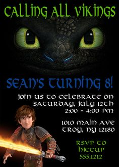 How to Train Your Dragon Invitation: by CollarCityDesigns on Etsy