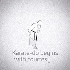 Begins and ends with Courtesy(Rei). Karate Karate, Shotokan Karate, Karate Training, Kendo, Aikido, Illustrations And Posters, Taekwondo, Kung Fu, Art World