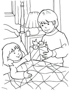 Being a Friend to the Sick Coloring Page