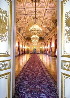 Hôtel de Lassay (1730) 128, rue de l'Université Paris 75007. La Salle des Fêtes 1845-1848 Architecte : Jules de Joly