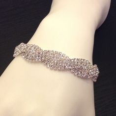 ✨✨✨ CRYSTAL BRACELET ✨✨✨ New; never worn; Austrian crystals set in faux silver; snap lock closure Jewelry Bracelets