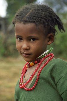 Oromo girl. Bale, Ethiopia