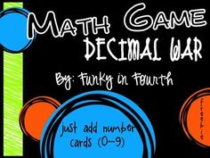Decimal War: Math Game {Freebie}