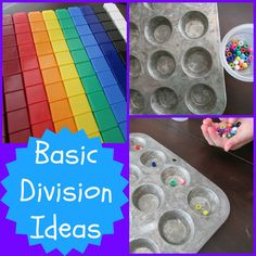 fun ways to teach division to kids with printable games, apps and book suggestions - Modern Design Teaching Division, Division Activities, Math Division, Teaching Math, Math Activities, 3rd Grade Division, Long Division, Teaching Ideas, Math Strategies