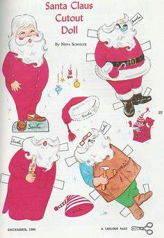 (⑅ ॣ•͈ᴗ•͈ ॣ)♡                                                          Paper doll Santa
