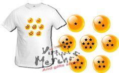 CAMISETA-DRAGON-BALL-BOLAS-bola-anime-talla-chica-tshirt-t-shirt-mujer-nino-xxl