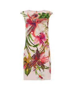 A-lijn jurk met bloemdessin