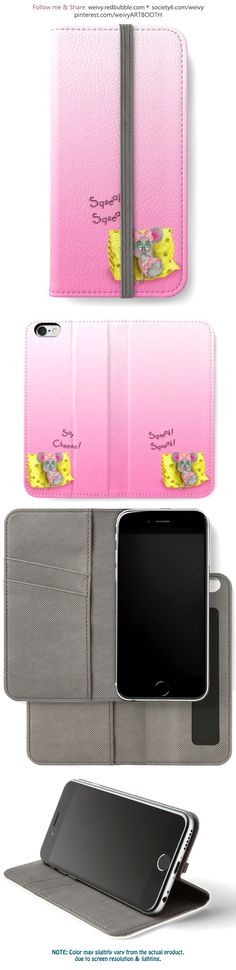 'Tiny Sweet Mice on a Tiny Cheesy Pillow' iPhone Wallet by We ~ Ivy Iphone Wallet, Mice, Girly Girl, Tech Accessories, Magenta, Cheese, Technology, Pillows, Sweet
