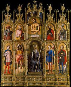ANTONIO VIVARINI San Antonio, Cristo y la Piedad (1464) Museo Vaticano.
