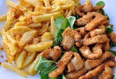 Pollo con patate croccanti in padella
