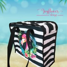 Flamingo - praktikus, cipzáras, vízhatlan, egyedi strandtáska - vízfesték hatású grafikával Lunch Box, Bento Box