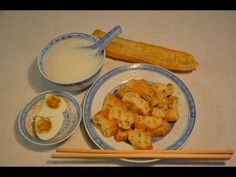 You tiao, crisp chinese crullers. 油條 (Deep Fried Chinese Bread Stick)