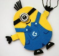 Designed by maryross: Puch Art minion instructions, instrucciones para hacer este minion con punch art, owl puch from stampin up