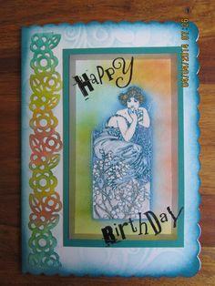 """""""Birthday"""" using Adirondacks & Clarity stamps"""
