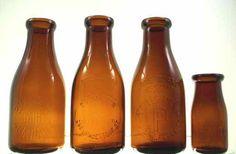 Amber Milk Bottles