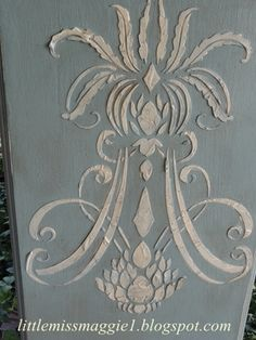painted furniture - Raised Plaster Stencil tutorial including sealing and painting it Furniture Makeover, Diy Furniture, Restoring Furniture, Chalk Paint Furniture, Stenciling Furniture, Wall Stenciling, Paint Effects, Stencil Diy, Furniture Inspiration