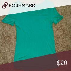 Loft short sleeve pocket tee Jade green fitted short sleeve tshirt with pocket and side slits LOFT Tops Tees - Short Sleeve
