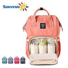 Sunveno 패션 엄마 출산 기저귀 가방 브랜드 대용량 아기 가방 여행 배낭 desinger 간호 가방 아기 케어
