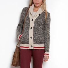 Love this Sock Cardigan - perfect for the chalet! #Roots #CdnGetaway