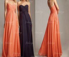 long bridesmaid dresses orange bridesmaid dress navy by fitdesign, $119.00