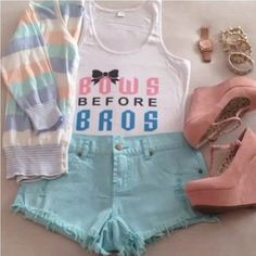 Bows before bros outfitperfect for a hot super sunny summer day