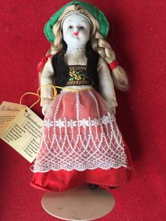 "8"" Playtown Doll Porcelain Fairytale series Heidi by novellousnovelties on Etsy"