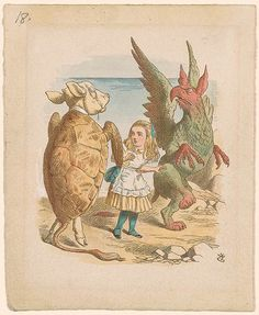 John Tenniel | Alice with Gryphon and Mock Turtle | Drawings Online | The Morgan Library & Museum
