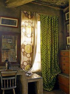 Mismatched Curtains