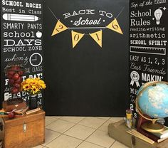 Photo booth to bring traffic to PTA table at orientation or Back to School night? Back To School Party, Back To School Night, Welcome Back To School, 1st Day Of School, School Parties, Pta School, School Events, School Play, Back To School Pictures