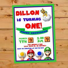 Super Mario Brothers Invitation, Birthday Party Invite, Super Mario Bros Invite, First Birthday Invite, Nintendo Birthday Party, Luigi, Toad by TwistedSisterShop on Etsy