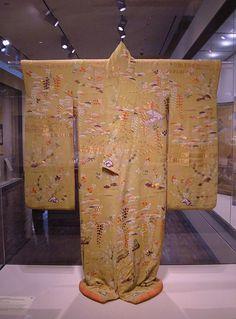 Kimono displayed at the San Francisco Art Museum