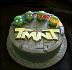 Ninja turtles cake, Dakota's 5th bday