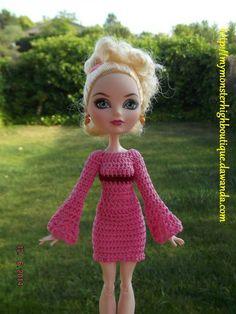 Vestido para Ever after high E57 de My Monster High boutique por DaWanda.com
