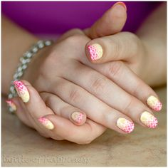 Orly Lemonade +  Orly Beach Cruiser + nail stickers #nails #nailart