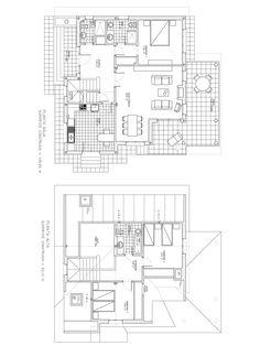 Plano constructivo de vivienda de 158 m2