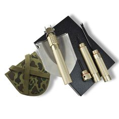 Military Survival Folding Shovel Multitool - Trench Entrenching Shovel Tool for Camping -- Check out the image by visiting the link.