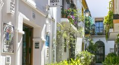 La Morada Mas Hermosa Marbella Guests can enjoy an authentic Andalusian experience in this whitewashed townhouse, set in Marbella's old town. La Morada Mas Hermosa offers free Wi-Fi throughout and a garden patio.  Rooms at this boutique hotel are themed around a different colour.