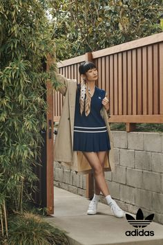 Enjoy an afternoon of leisure without stepping on the court. Explore adidas Originals style inspired by yesterday, built for tomorrow. Adidas Dress, Tennis Dress, Retro Fashion, Adidas Originals, Inspiration, Shopping, Dresses, Women, Style