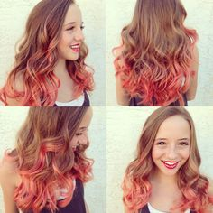 ... dye ombre pravana pastels coral hair peach hair colored hair pretty