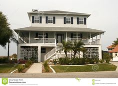 Key West Style House Plans Home Stock Photography Image 2221442