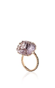 One of a Kind 18K Rose Gold Ring with Pink Amethyst - Lito Resort 2016 - Preorder now on Moda Operandi