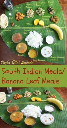 Lunch Menu - 2 - Summits And The Sea - Lunch Menu - 2 Vazha ellai Sapadu South Indian Thali, South Indian Food, South Indian Vegetarian Recipes, Indian Food Recipes, Vegetarian Food, Vegan Food, Veg Recipes, Lunch Recipes, Cooking Recipes